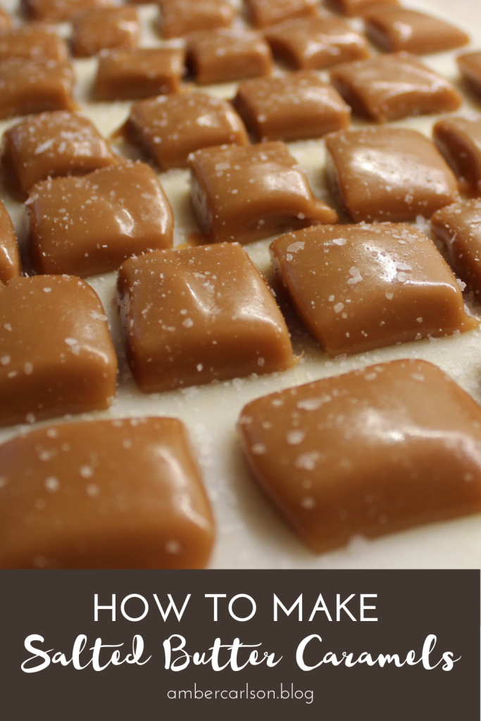 Want to make something other than cookies for the holidays this year? Try these easy, delicious salted butter caramels. #holidaytreats #recipes #comfortfood #desserts